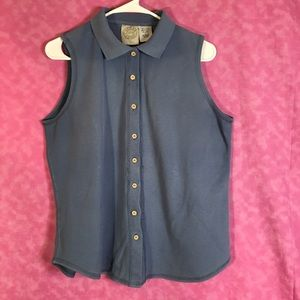 Erika Sporty Button Down Top size Large
